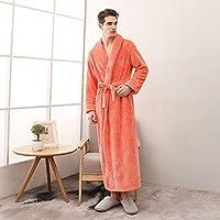 ロングバスローブホームウェア洋服ドレッシングガウンレディースバスローブコート女性フランネルナイトドレス女性暖かいバスローブ、6、L