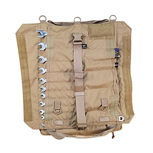 Atlas 46 Yorktown Tool Roll, Coyote Brown - Ultra Portable, Innovative and Durable Design, Large Capacity Wrench Organizer and Tool Storage   Made in the USA