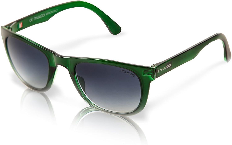Mulco M10 C4 Green Frame Black Lens 40 mm Oval Sunglasses