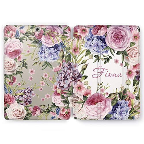 Wonder Wild Case Compatible with Samsung Galaxy Tab Floral Bouquet S4 S2 S3 S6 Lite S5e S7 Plus Tablet Cover 8 Pen 9.7 10.1 10.5 Design Cover Customized Peonies Flowers Girly Watercolor Wildflowers