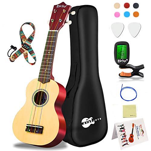 Everjoys Soprano Ukulele Beginner Kit 21 Inch Ukelele w/How to play...