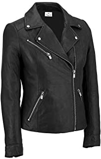 VearFit Women's Sliver Stylion Red, Pink, Gray, Black and Tan Lambskin Real Leather Jacket