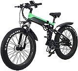 Bicicleta eléctrica de nieve, Bicicleta de la ciudad de la montaña eléctrica plegable, Motor de la bicicleta eléctrica de la pantalla LED EBIKE 500W 48V 10AH Motor, 120kg Max Cargar, Portátil Fácil de