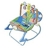LZTET Türsteher und Schaukeln Stuhl Türsteher Liegestühle Vibration Beruhigende Multifunktions Schaukelstuhl Kinderbett Kinderbett Neugeborenen Komfort Elektrische Kinder Liegesessel,Blue