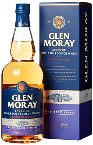 Glen Moray Elgin Classic Port Cask Finish Small Batch Release mit Geschenkverpackung  Whisky (1 x 0.7 l)