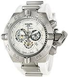 Invicta Men's 1392 Subaqua Noma IV Chronograph Silver Dial White Polyurethane Watch