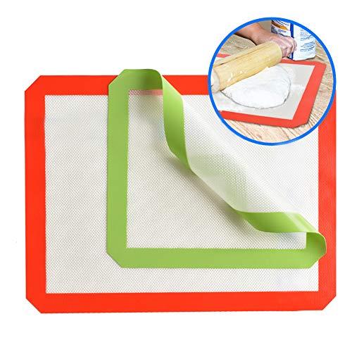 Souarts Stick Bakmat Herbruikbare siliconen bakmatten voor bakpannen en rollen - Gebak Cookie Bun Brioche en Brood maken