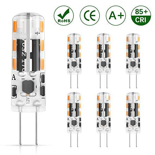 DiCUNO G4 LED Lampe 1.2W, AC/DC 12 V mit 120 LM, Warmweiß 3000k, SMD, Ersatz für 10W Halogen Lampen, Nicht dimmbar,Kein Flackern, 6-er Pack