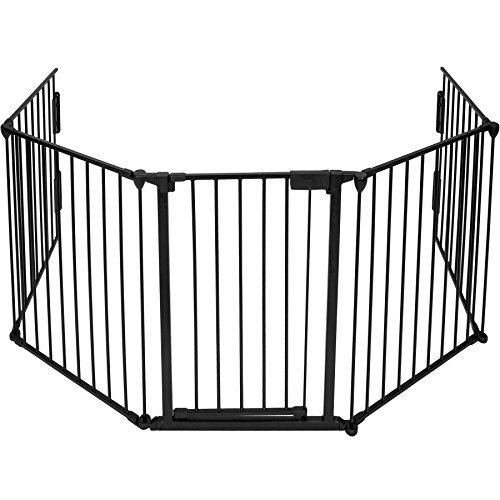 TecTake 402991 - Kaminschutzgitter 300cm, 5 Elemente inkl. Tür, Für Kinder im Alter von bis zu 2 Jahren