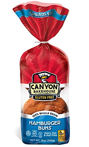 CANYON BAKEHOUSE Gluten-Free Hamburger Buns - Case of 6 Bags