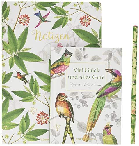 Viel Glück und alles Gute: Lesen - Schreiben - Genießen Buch mit Notizheft und Bleistift Buch mit Notizheft und Bleistift