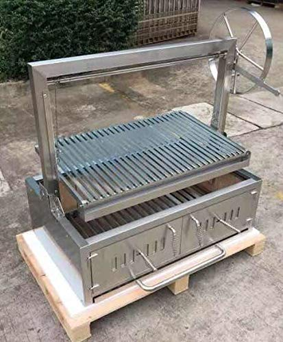 Built in/Table Top Charcoal Outdoor BBQ, Stainless Steel #430 Body and #304 Grates, Parrilla Santa Maria/Argentine Grill Spit