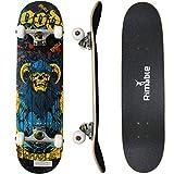 Rimable Complete Maple Skateboard 31 Inch (Horn Skull)