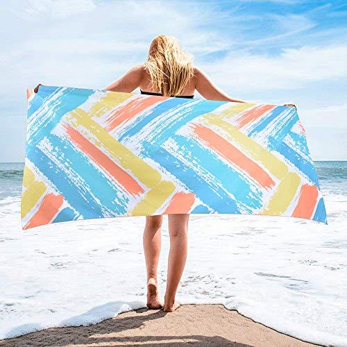 ipow Mikrofaser Strandtuch, 160 x 80cm, Ultra Leicht & Schnelltrocknend & Saugfähig, Sandabweisendes Handtuch/Badetuch für Strand, Sport, Schwimmen, Reisen