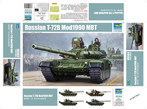 Trumpeter 05564 Modellbausatz Russian T-72B Mod1989 MBT-Cast Turret