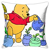 wuhandeshanbao Winnie The Pooh Flowers Pillowcase Covers 18x18 Decorative Sofa Seat Car Soft