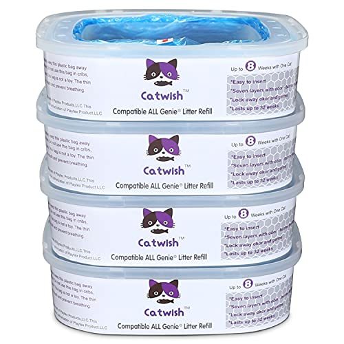 Cat Litter Refills Compatible with Litter Genie and Pet Genie Pail ( 4 Pack )