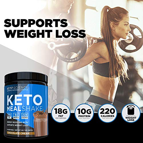 Keto Science Ketogenic Meal Shake Chocolate Dietary Supplement, Rich in MCTs and Protein, Keto and Paleo Friendly, Weight Loss, (14 servings), 20.7 oz Packaging May Vary 6