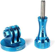 Aluminum Alloy Metal GoPro Tripod/Monopod Mount with Aluminum Thumbscrew for GoPro Session, Hero 8,7, 6, 5, 4, 3+, 3, 2, 1 HD (Blue)