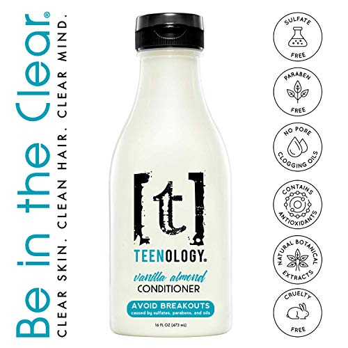 TEENOLOGY Conditioner for Teens - Avoid Forehead Acne and Breakouts - Sulfate and Paraben Free,...