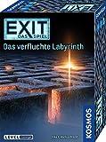 KOSMOS 682026 EXIT - Das Spiel - Das verfluchte Labyrinth, Level: Einsteiger, Escape Room Spiel, für 1 bis 4 Spieler ab 10 Jahre, einmaliges Event-Spiel, spannendes Gesellschaftsspiel