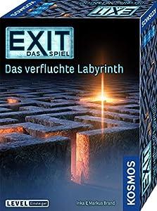 """Aus der erfolgreichen Spielereihe """"EXIT – Das Spiel"""". Das Escape Room Spiel für zu Hause Escape Room Spiel im Level: Einsteiger 1–4 Spieler lösen im Team knifflige Rätsel, um den Weg aus dem verfluchten Labyrinth zu finden Für Erwachsene, Familien un..."""