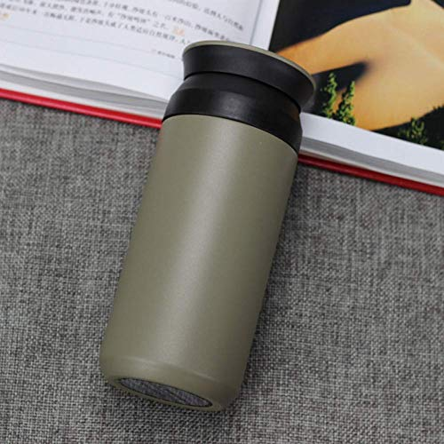 Geïsoleerde koffiekop. Stainless Steel Thermos Bottle Car Geïsoleerde drinkbeker Outdoor Travel Beker Chilly Fles Thermosfles (Color : Green)