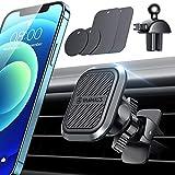 VANMASS Handyhalterung Auto Magnet 2 IN 1 KFZ Handyhalterung Lüftung【6 Stärkste Magnet+4 Metallplatte】 2 Upgrade Lüftungsclip Universal Handyhalter Auto 360° Drehbar Für Alle Handys iPhone Samsung LG