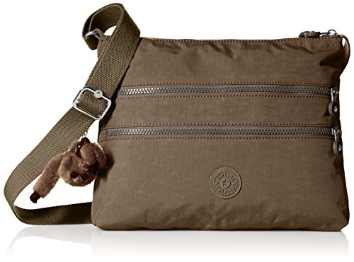 Kipling Women's Alvar Soft Earthy Beige Tonal Crossbody Bag, t