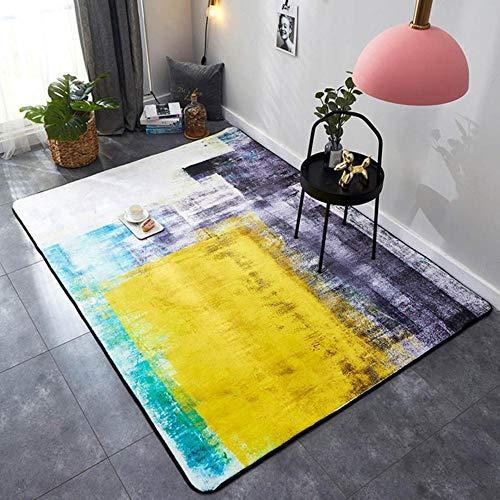 Rechthoek tapijt kristal fluweel geometrische stijl antislip tapijt en tapijten voor thuis woonkamer/slaapkamer/keukenmatten alfombra 1pc, kleur 2,95x95cm 37,4x37,4in