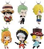 ADIS 6pcs / Set One Piece Stampede Gashapon Figura Luffy Zoro Law Tonytony Chopper Nami PVC Figura Juguetes Figuras Muñecas