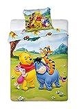 Winnie the Pooh baby cama 100x 135cm/40x 60cm en Multicolor