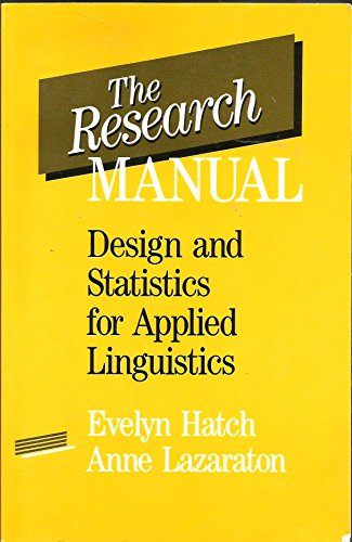 The Research Manual: Design and Statistics for Applied Linguistics