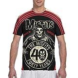 Mi&sfits - Camiseta de manga corta con cuello redondo para hombre