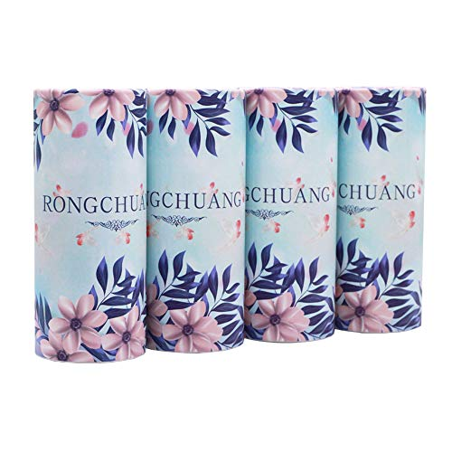 RONGCHUANG Facial Tissue 4 Packs 120 Count Tissues Per Tube Portable Cylinder Box Roll for Office Car HomePurple