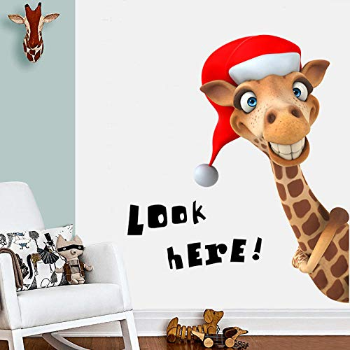 Qingmo Animales de dibujos animados, 60 x 90 cm, para sala de estar, dormitorio, decoración de pared, decoración de pared, 3D, decoración del hogar