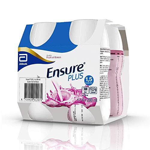 Ensure Plus Supplemento Alimentare Formato Bevanda | Confezione 4x200ml | Gusto Frutti di Bosco