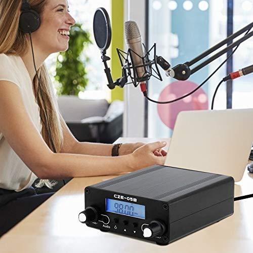TTLIFE Transmisor FM 0.1 0.5W LCD Digital PLL Transmisión estéreo 76~108MHz Estación de Radio estéreo con Antena, Utilizada para la estación de Radio de la Iglesia, Teatro de automóviles