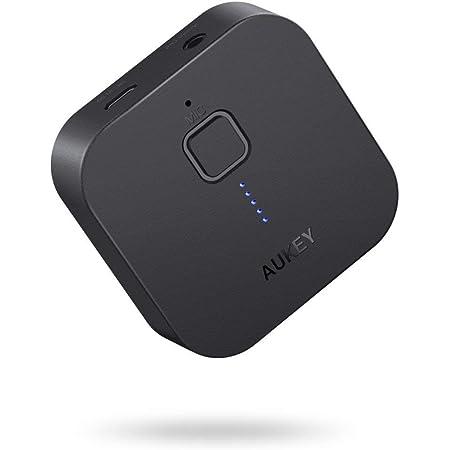 AUKEY Bluetoothレシーバー オーディオレシーバー 無線受信機 18時間連続使用 3.5mmステレオミニプラグ接続 BR-C1