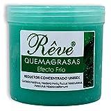 REVE Quemagrasas Efecto Frio - Gel de crema reafirmante adelgazante anticelulítica potente reductora de abdomen, caderas y glúteos para hombre y mujer de 500 ml.