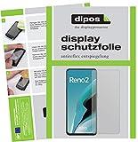 dipos I 6X Schutzfolie matt kompatibel mit Oppo Reno2 Folie Bildschirmschutzfolie (bewusst Kleiner als das Glas, da Dieses gewölbt ist)