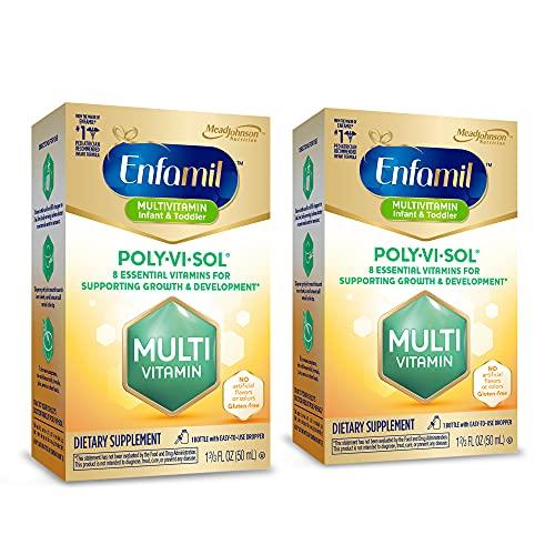 Enfamil Poly-Vi-Sol Liquid Multivitamin Supplement Drops for Infants &...