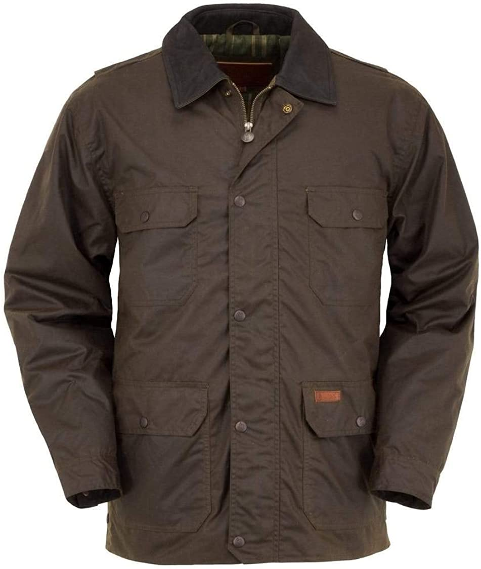 Outback Trading Men's 2146 Gidley Waterproof Breathable Fully Lined Cotton Oilskin Western Jacket