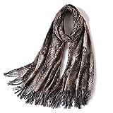 diseñador de la marca de las mujeres bufanda de la moda Leopard Print bufandas de cachemira dama invierno chales y abrigos pashmina bandana manta