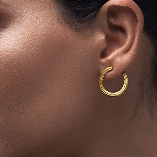 Minimalistische Creolen, Gold Ohrstecker, kleine Creolen, Ohr Jacken Ohrringe, hinter dem Ohr