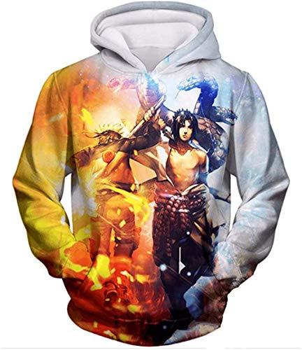 LIKEJJ marshmello Hoodie Herren Naruto 3D Druck Pullover Hoodie Sweatshirt mit Fronttasche XL_Farbe 8