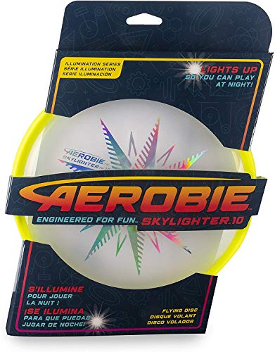 Aerobie Skylighter 10 Ultimate Flying Disc w/Super Bright Long Lasting LEDs (Yellow)