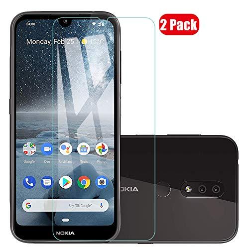 Voviqi Pellicola Vetro Temperato Nokia 4.2, 2 Pack Pellicola Protettiva in Vetro Temperato per Nokia 4.2 (Durezza 9H, Spessore di 0,26 mm)