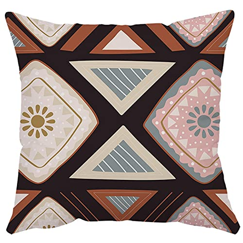 Aokali Federa per cuscino in stile etnico, motivo floreale, a quadri, per divano