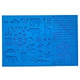 NaisiCore Silicone Drawing Board 3D Pen Mat 3D Pen Stencils Book 3D Pen Drawing Tools Blue